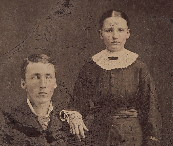 James & Luella Latta Wollam (circa 1880